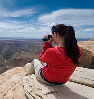 women taking video of Grand Canyon